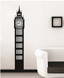 Syga Classic Clock Tower Wall Sticker - Black