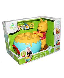 Disney Winnie The Pooh Shape Sorter Pot - Multicolor