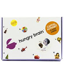 Hungry Brain Capital Alphabets Flash Cards - Multi Color