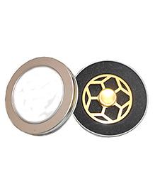 Emob Shining Star Fidget Hand Spinner Toy - Gold Black