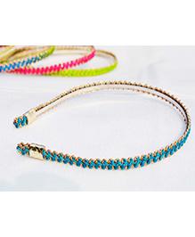 Little Tresses Zigzag Design Hairband - Peacock Blue