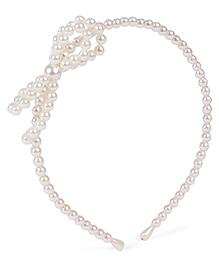 Stol'n Hair Band Bow Applique - Pearl White