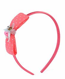 Stol'n Hair Band Dotted Bow Design - Peach