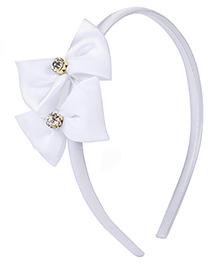 Stol'n Hair Band Bow Applique - White