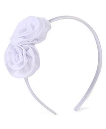 Stol'n Hair Band Rosette Applique - White