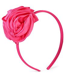 Stol'n Hair Band Floral Applique - Dark Pink