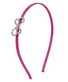 Stol'n Hair Band Rhinestone Bow Applique - Pink - 1683945
