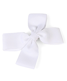 Stol'n  White Hair Clip Bow (Colour May Vary)