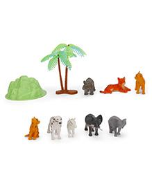 Karma Natural World Wild Animal Set Of 10 Pieces - Multicolor