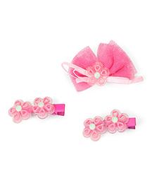 Babyhug Alligator Hair Clips Pack Of 3 - Pink