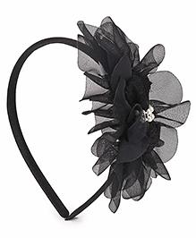 Babyhug Hair Band Floral Applique - Black
