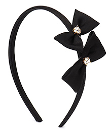 Babyhug Diamond Studded Bow Applique - Black