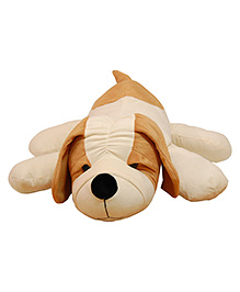 Surbhi Puppy Soft Toy Cream & Brown - Length 65 Cm