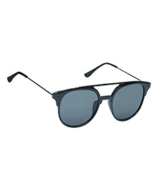Spiky Classic Aviator Kids Sunglasses - Black & Grey