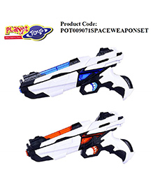 Planet Of Toys Space Weapon With LED Light & Sound Pack Of 2 - 28 Cm