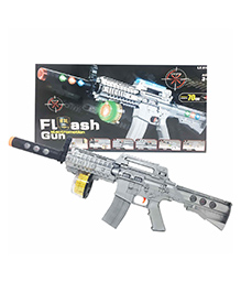 Planet Of Toys M16 Laser Flash Gun Silver - Length 70 Cm