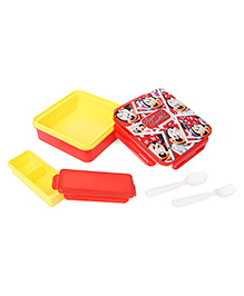 Disney Minnie Mouse Printed Lunch Box - Red Yellow