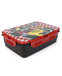 Disney Lunch Box With Spoon Fork & Small Containers With Mickey Mouse Print - Red
