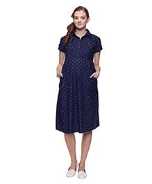 Mamma's Maternity Denim Maternity Dress - Blue
