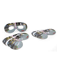 Disney Pixar Car Eye Masks Pack Of 10 - Grey & Black