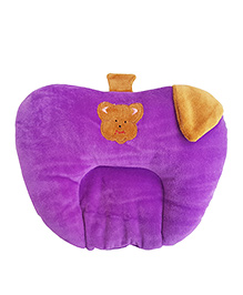 My Newborn Premium Quality Mustard Seed Apple Shaped Neck Pillow - Purple Brown