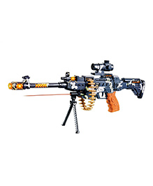 Toyshine Army Style Toy Gun With Light & Sound Black - Length 63 Cm