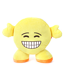 My Baby Excels Standing Emoji Happy Cushion Yellow - 30 Cm