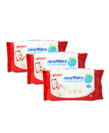 Pigeon Baby Wipes Water Base Pack Of 3 - 82 Sheets Each
