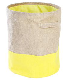 My Gift Booth Collapsible Jute Storage Bag - Yellow