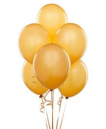 Syga Solid Metallic Latex Balloons Pack Of 100 - Yellow
