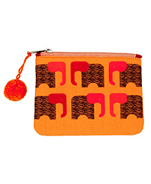 The Crazy Me Multi Utility Pouch Elephant Print - Orange