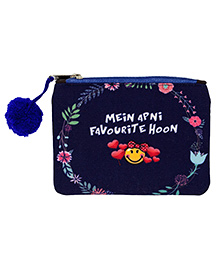 The Crazy Me Multi Utility Pouch Text Print - Blue