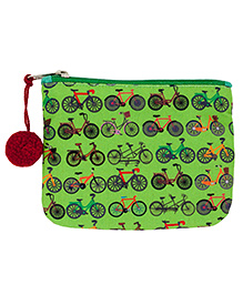The Crazy Me Multi Utility Pouch Cycle Print - Green