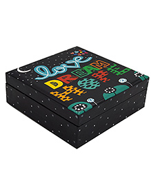The Crazy Me Wooden Jewellery Box Quote Print - Black