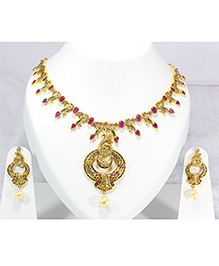 Pihoo Necklace & Earrings - Golden - 1872172