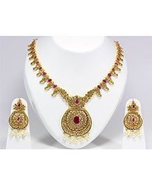 Pihoo Necklace & Earrings - Golden
