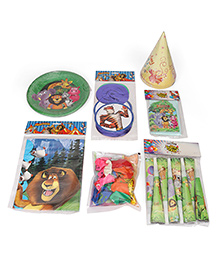 Themez Only Jungle Theme Birthday Party Kit Pack Of 10 - Multicolour