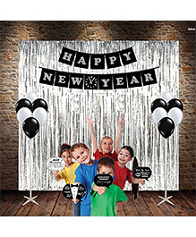 Party Propz Happy New Year Decoration Combo - Multicolor