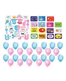 Party Propz Baby Shower Decoration & Photo Booth Set - Multi Color