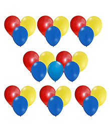 Party Propz Balloons Blue Red Yellow - 25 Pieces
