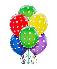 Party Propz Balloons Polka Dots Print Multi Color - 25 Pieces