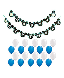 Party Propz Birthday Mickey Mouse Theme Decoration Set - White Blue