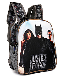 Justice League School Bag With Two Way Shoulder Straps Black - 12 Inches