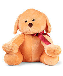 Play Toons Sitting Puppy Soft Toy Brown - 30 Cm