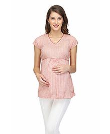 Preggear Viscose Maternity Top With Back Tie - Multicolour