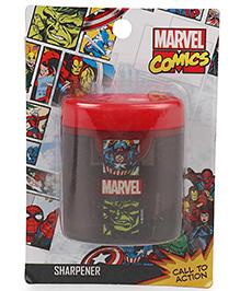 Marvel Avengers Double Hole Sharpener - Red And Black
