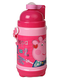 Peppa Pig ABC Water Bottle With Pop Up Straw Pink - 480 Ml
