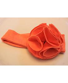 Many Frocks & Big Ruffle Flower Head Band - Dark Peach