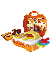 Toys Bhoomi Bring Along Pizza Oven Suitcase Set - Orange