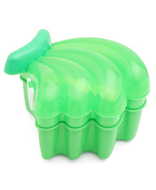 Banana Shape Lunch Box With Spoon - Green